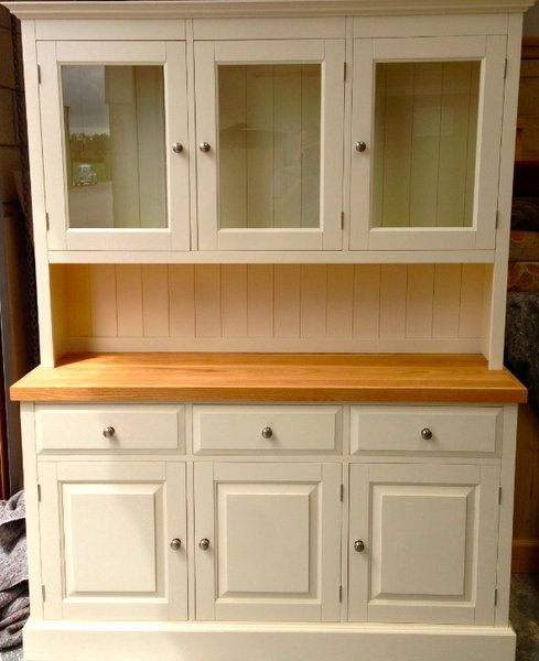 "Painted Pine Kitchen Cabinets: Painted Pine 3'6"" Glazed Shaker Dresser In 2019"