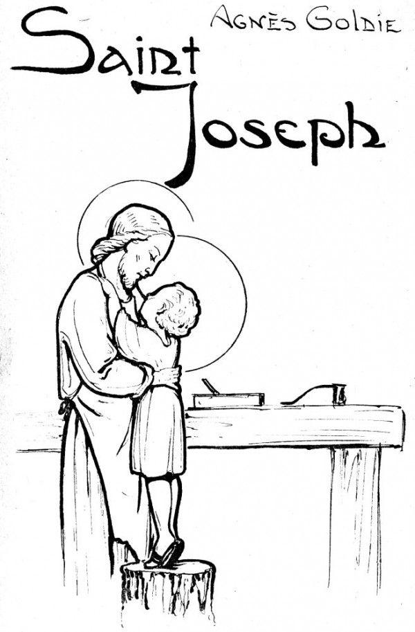 Saint joseph et le petit j sus l 39 atelier j sus pinterest cadeaux religieux cat chisme - Coloriage catholique ...