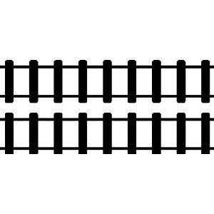 STRAIGHT TRAIN TRACKS....WALL STICKERS DECALS ART DECOR
