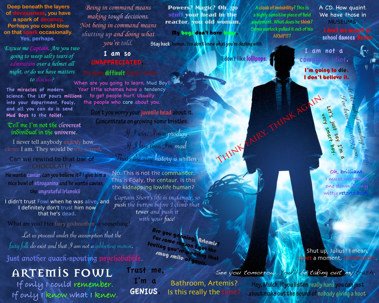 Artemis Fowl Desktop Background. Am I Obsessed If I Know All Of These?  Artemis FowlCharacter QuotesWallpaper QuotesBook ...