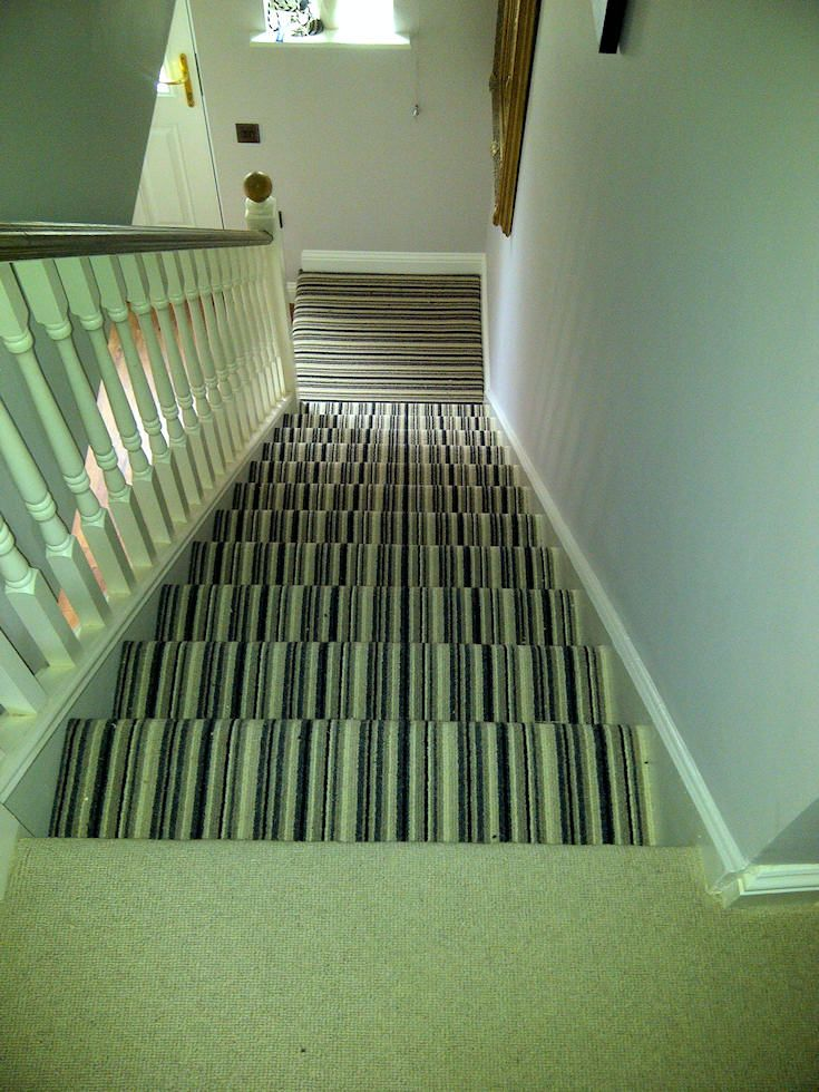 Google Image Result For Http Www Eyeflooring Co Uk Graphics | Hall Stairs And Landing Carpet | Stair Landing 1028 1028 | Staircase | Grey | White | Pinstripe Grey