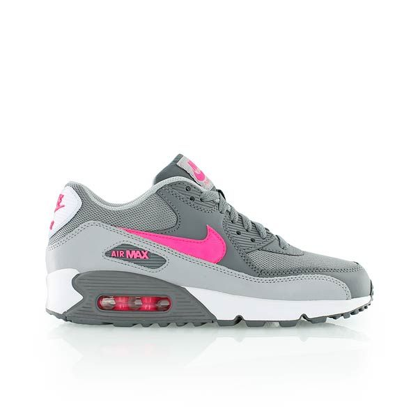 nike AIR MAX 90 MESH (GS) CL GREYHYPR PNK WLF GRY WHITE