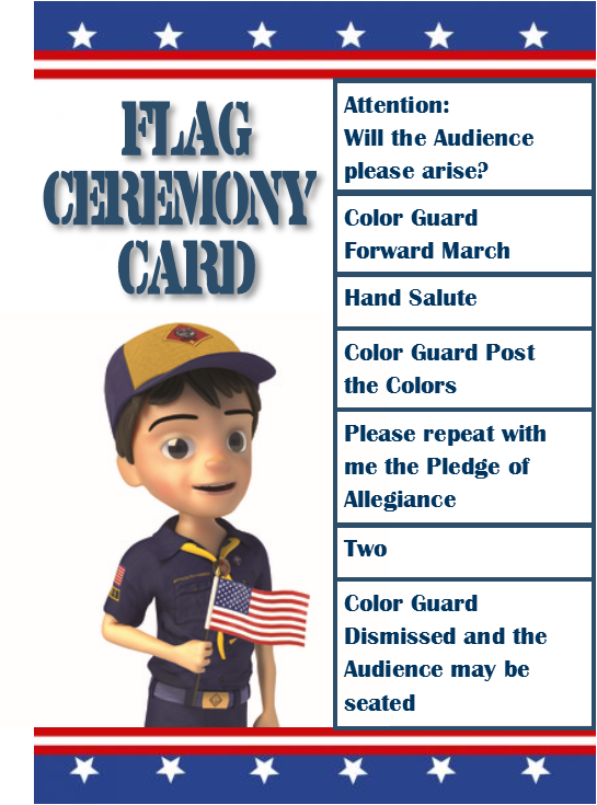 photograph about Cub Scout Flag Ceremony Printable named Pin upon Scouting