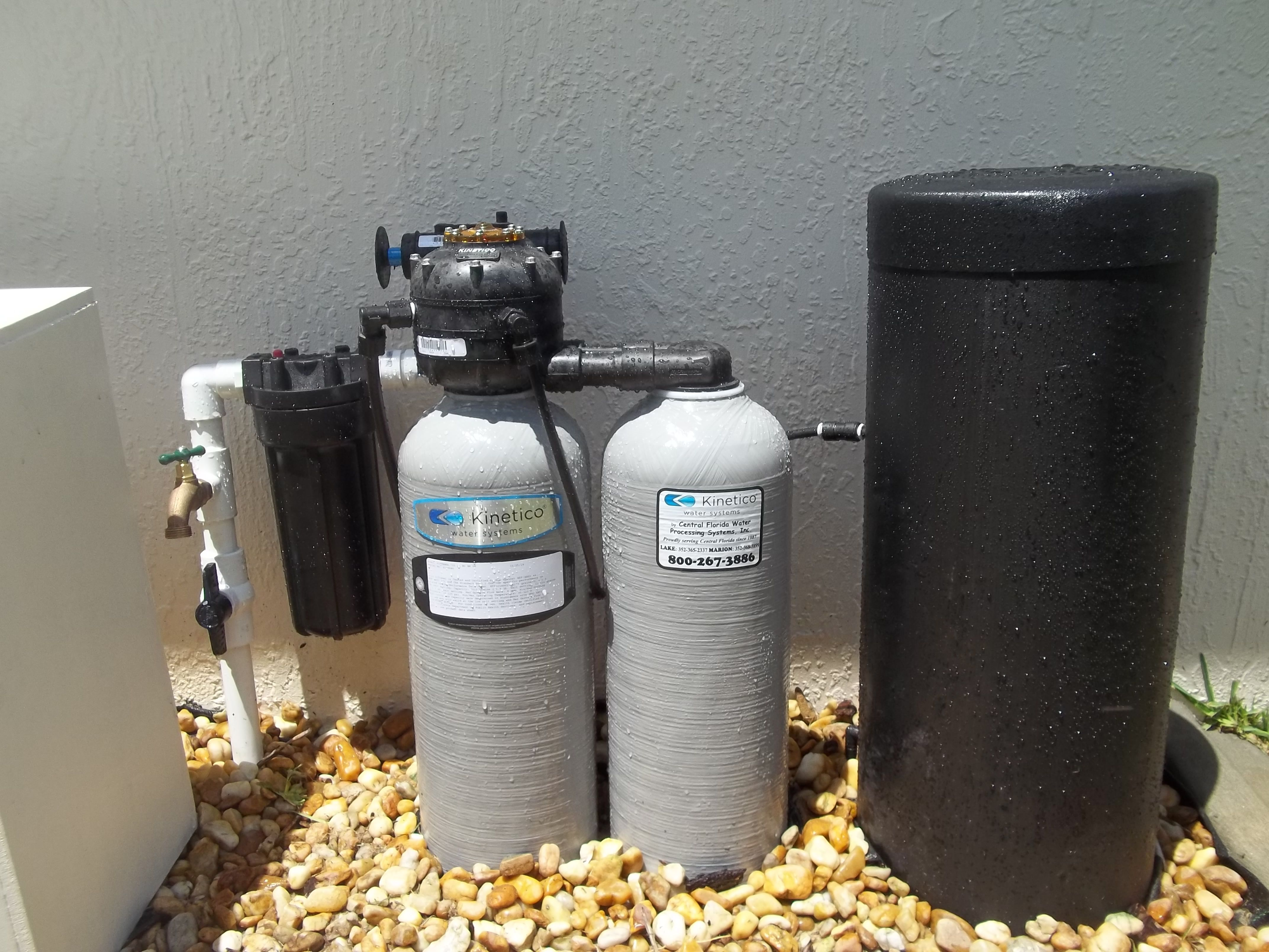 Kinetico Signature 735 Installed Outside For Soft Clean And Iron Free Water Water Treatment System Kinetico Water Water Treatment