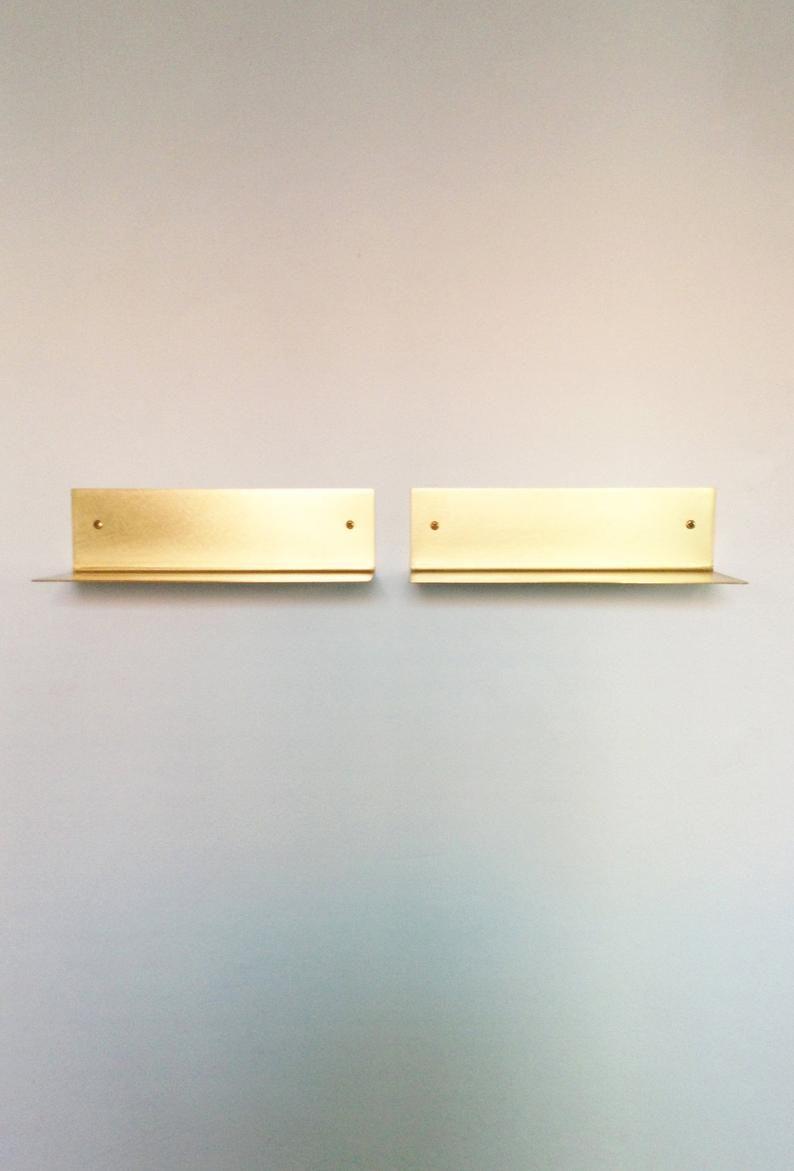 35 Cm Brass Wall Shelf Board Small Brass Wall Shelf Wall Shelves Small Wall Shelf Brass Shelves