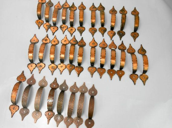 Vintage Copper Tone Kitchen Cabinet Pulls By Vintagehillbillies Mom Has These In Her