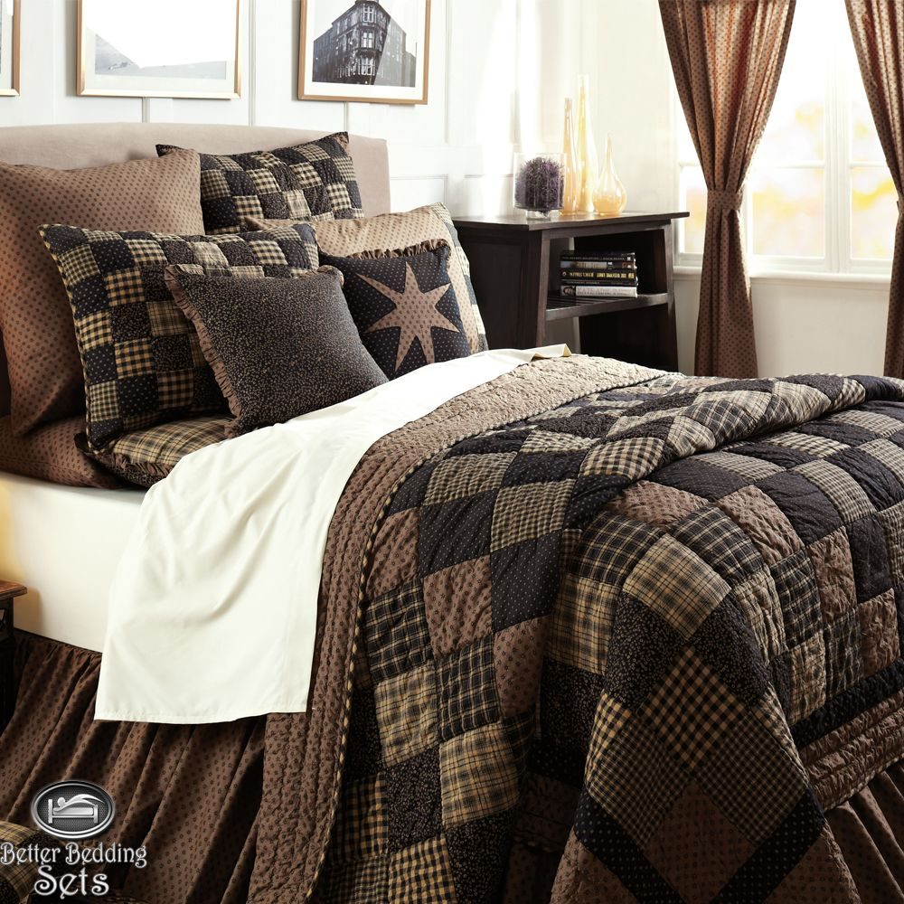 Patchwork twin queen cal king size quilt bedding set