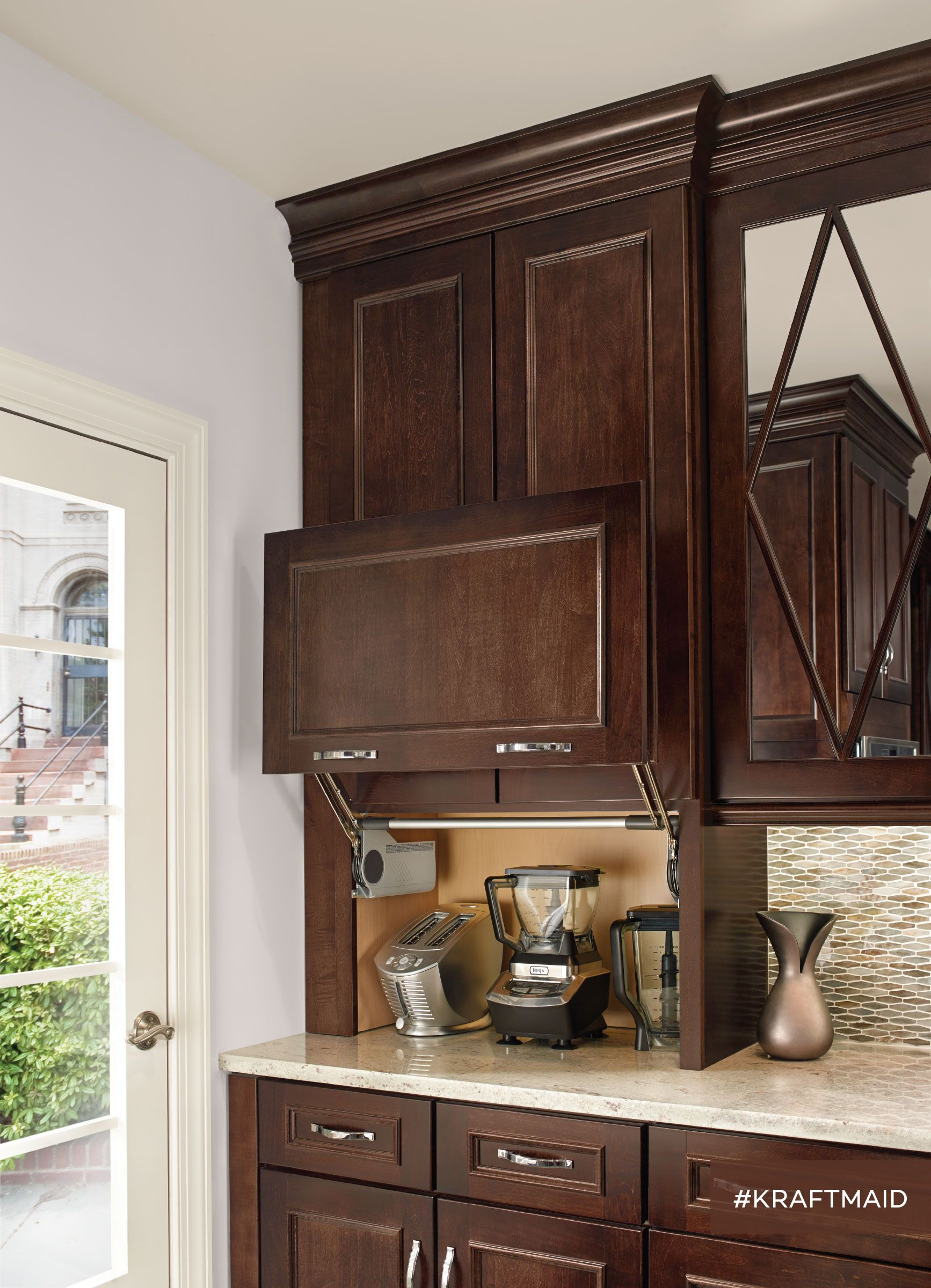 A Wall Appliance Garage Opens Like A Classic Garage Door And Is The