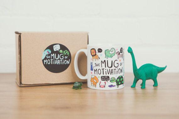 La taza de motivación ilustrativo regalo para por KatieAbeyDesign