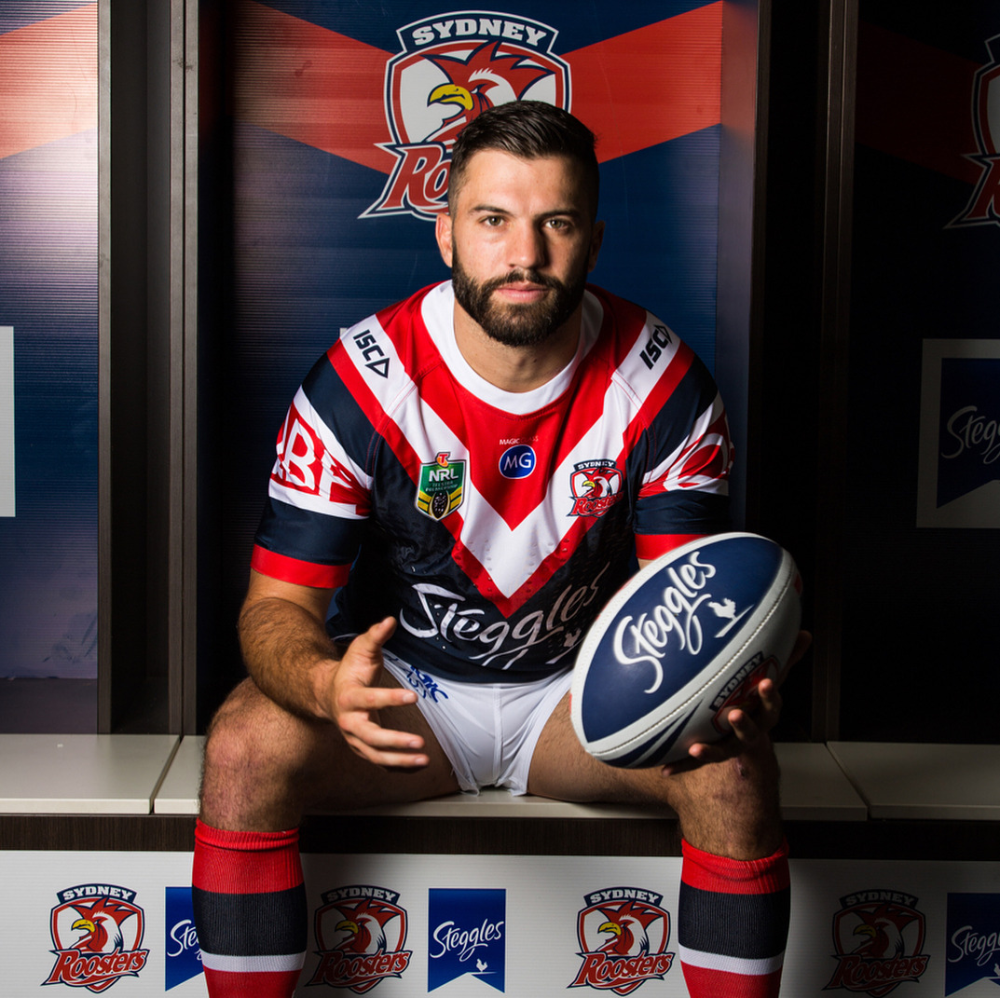 Footy Players James Tedesco Of The Roosters Hot Rugby Players Rugby Men Rugby Boys