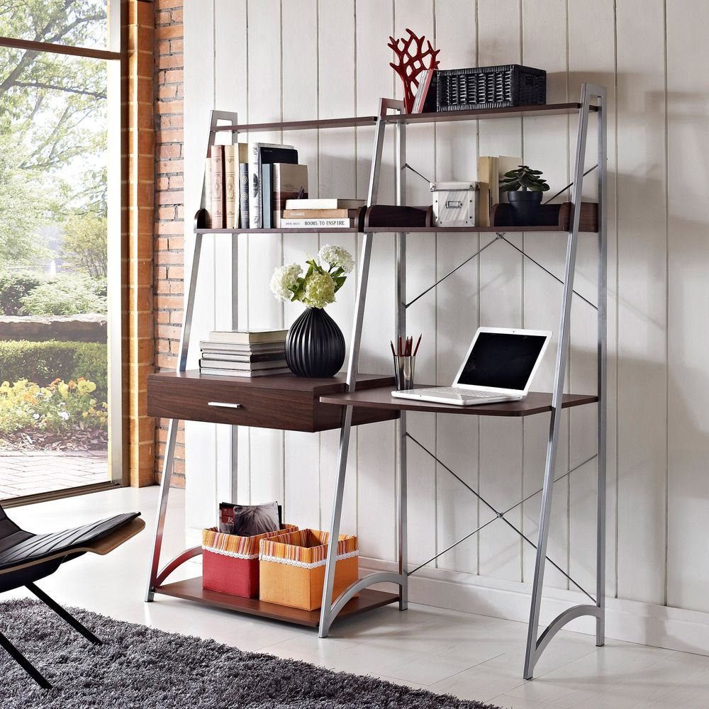 Altra ladder desk with tower bookcase overstock home design