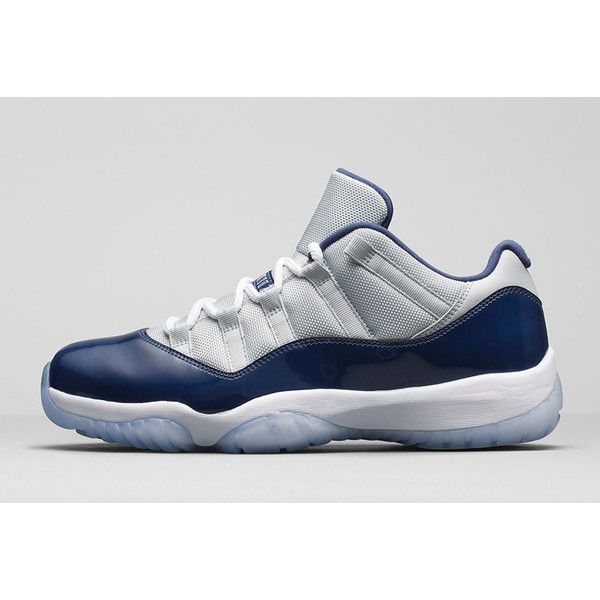How to Buy the 'Hoyas' Air Jordan 11 Low on Nikestore ❤ liked on Polyvore featuring jordan 11