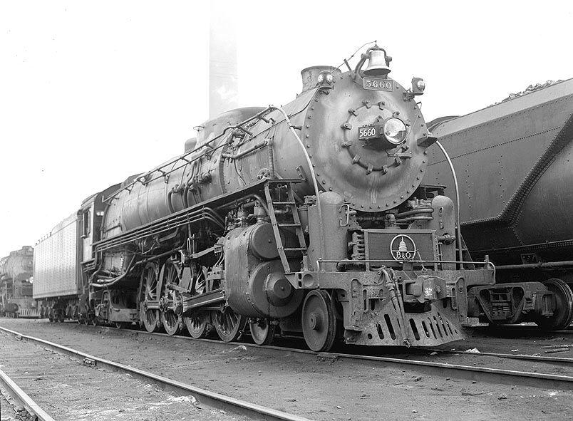 Baltimore and Ohio 4-8-2 Steam Locomotive.   Baltimore and ohio ...