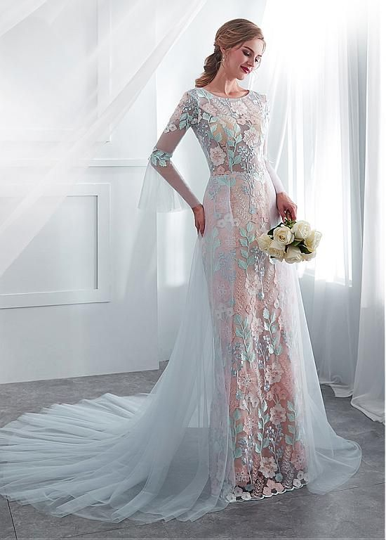 See Through Wedding Dresses.128 79 In Stock Fascinating Tulle Lace Jewel Neckline See Through