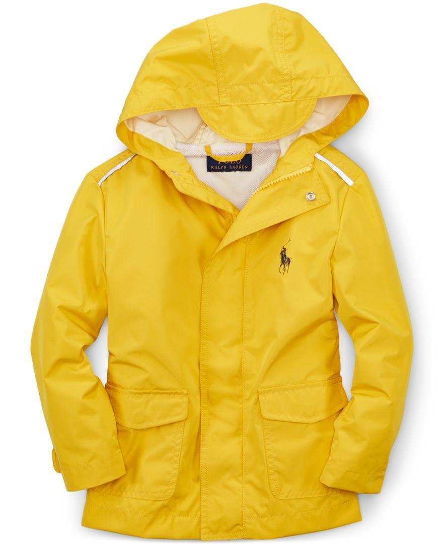 Ralph Lauren Little Boys' Waterproof Stadium Rain Jacket