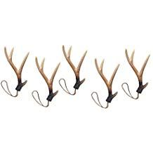 Down Home Designs Faux Deer Antler Hangers (Set of 5) for