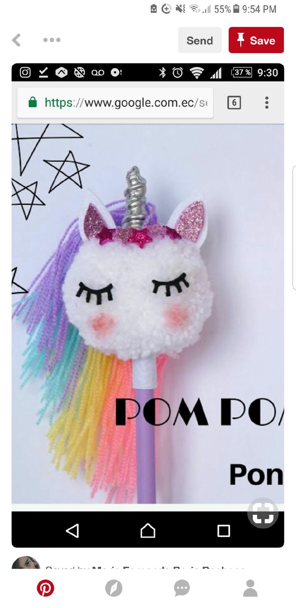 Love This Unicorn Pompom Unicorn Crafts Unicorn Party Unicorn Birthday