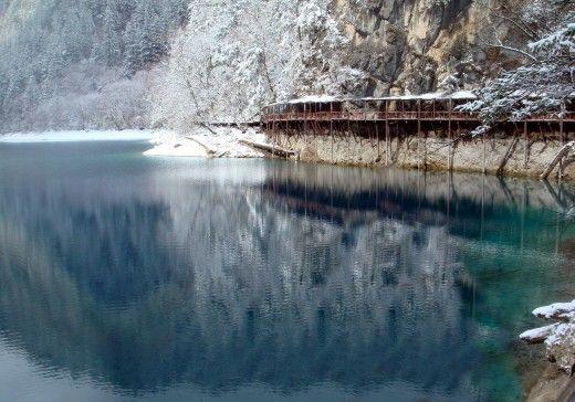Crystalline Turquoise Lake at Jiuzhaigou National Park, China