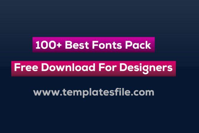 Download 7,000+ Fonts Pack Free Download, Free Fonts Bundle for ...