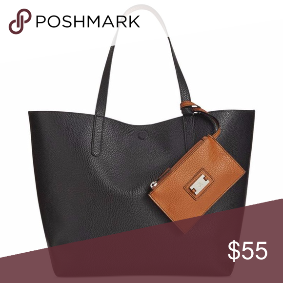 Reversibletextured Faux Leather Tote H Style   Co. Reversibletextured Faux  Leather 1f8cb870588fc