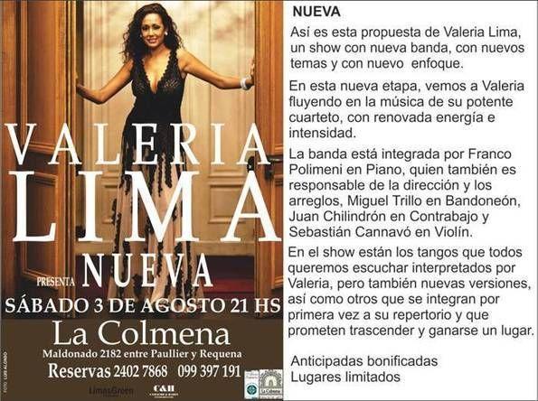 Montevideo: Valeria Lima - Nueva