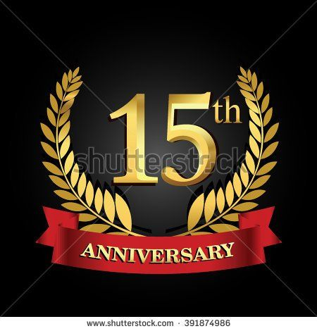 15th Anniversary Logo With Red Ribbon 15 Years Anniversary Signs