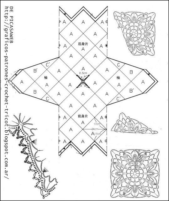TEJIDOS A CROCHET - GANCHILLO - PATRONES: GANCHILLO = HERMOSO Y ...