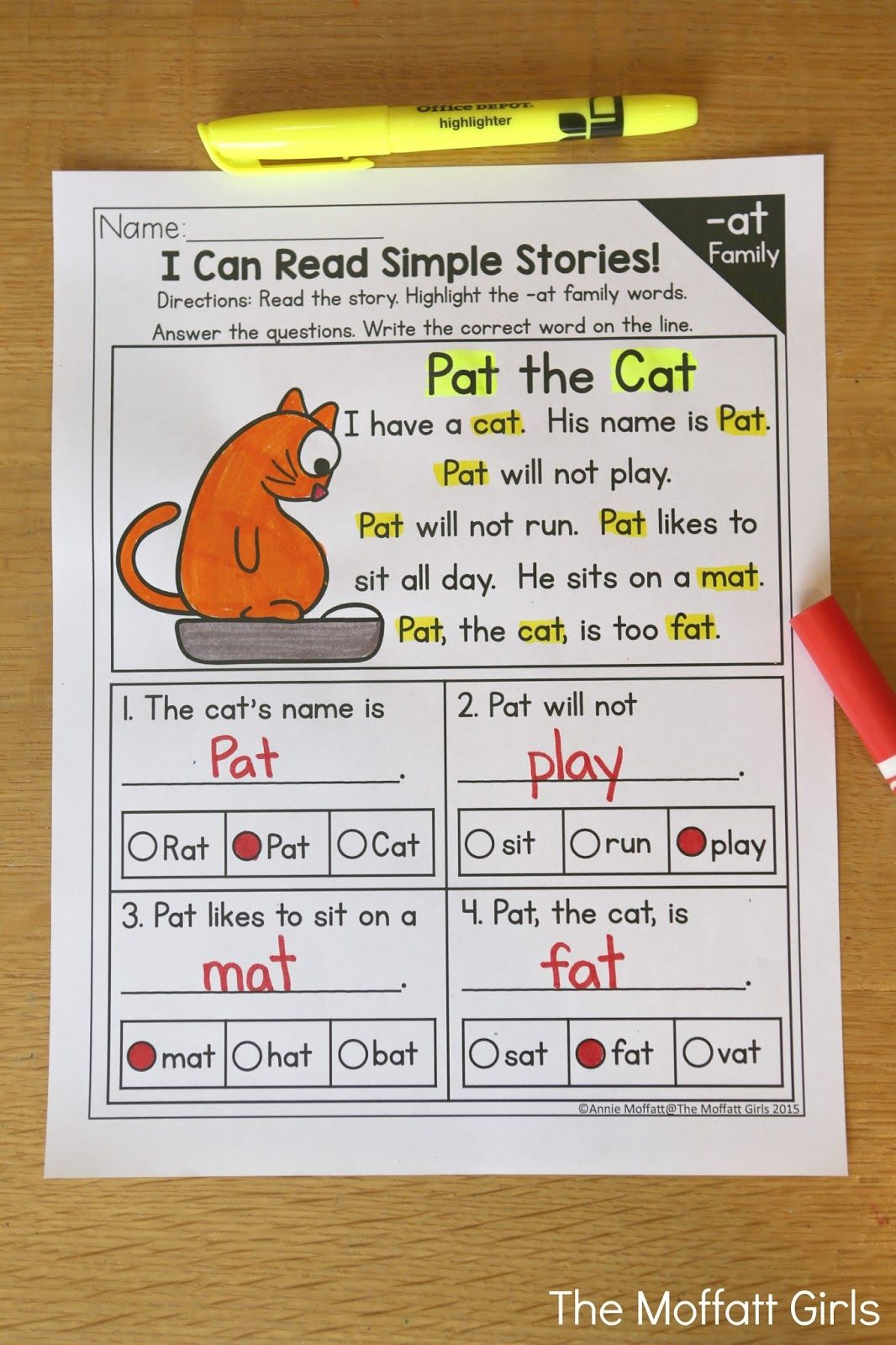 Cvc Fluency Reading Comprehension These Simple Stories Give Beginning And Struggling Readers A Genuine Opportunity Word Families Cvc Word Families Cvc Words Kindergarten stories and reading