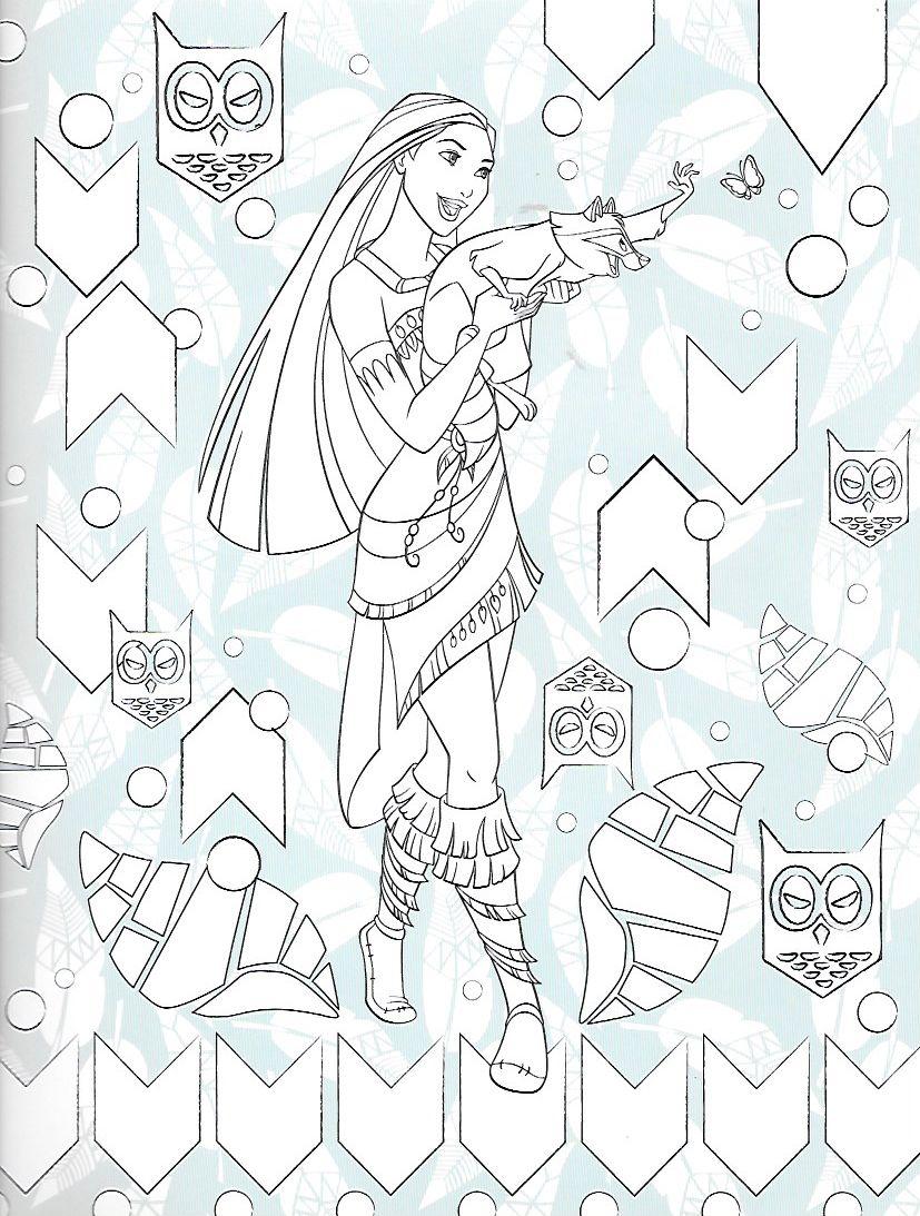 Épinglé par marivi sur Pocahontas kolorowanki  Dessin