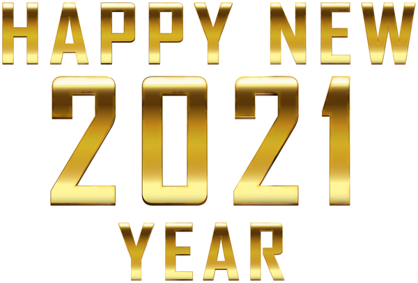 Happy New 2021 Gold Png Clipart Happy New Year Png Happy New Year Text Happy New Year Download