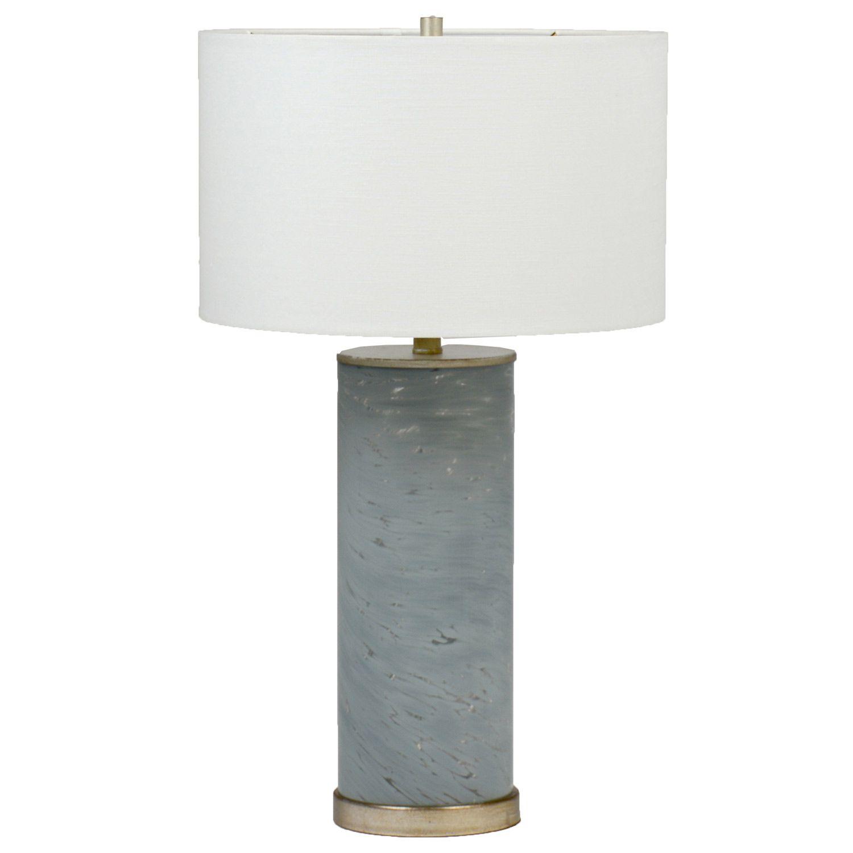 French Column Glass Floor Lamp
