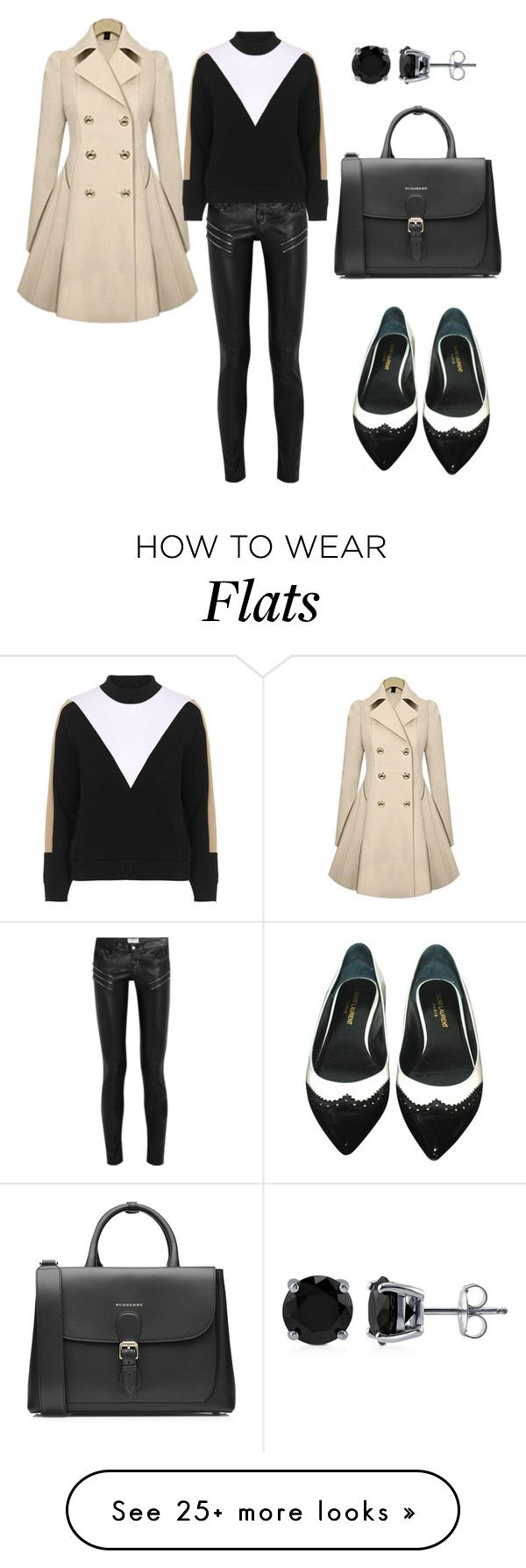 """Photo of """"Untitled #663"""" by sabrinalutz on Polyvore featuring Yves Saint Laurent, Burberr…"""