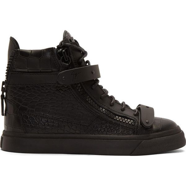 beauty release date: pre order Giuseppe Zanotti SSENSE Exclusive Black Croc-Embossed London High ...