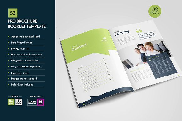 Professional Brochure Template V52 By Layout Design Ltd On