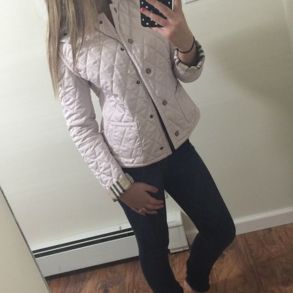 Burberry London Light Pink Quilted Coat Quilted Coat Burberry London Burberry Jacket