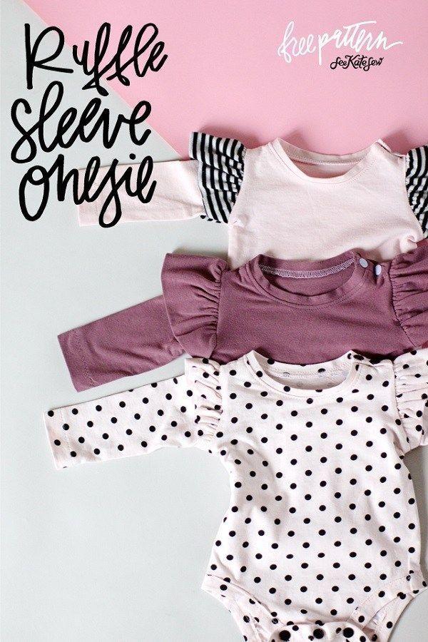 Free instructions: ruffle sleeve baby onesie instructions ... Free instructions: ruffle sleeve baby onesie instructions ...