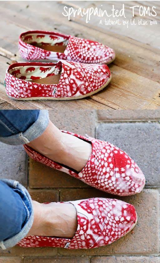 ღ♥♥ღ Fashion Is Life ღ♥♥ღ: Beautiful Red and white dotted Toms Shoes