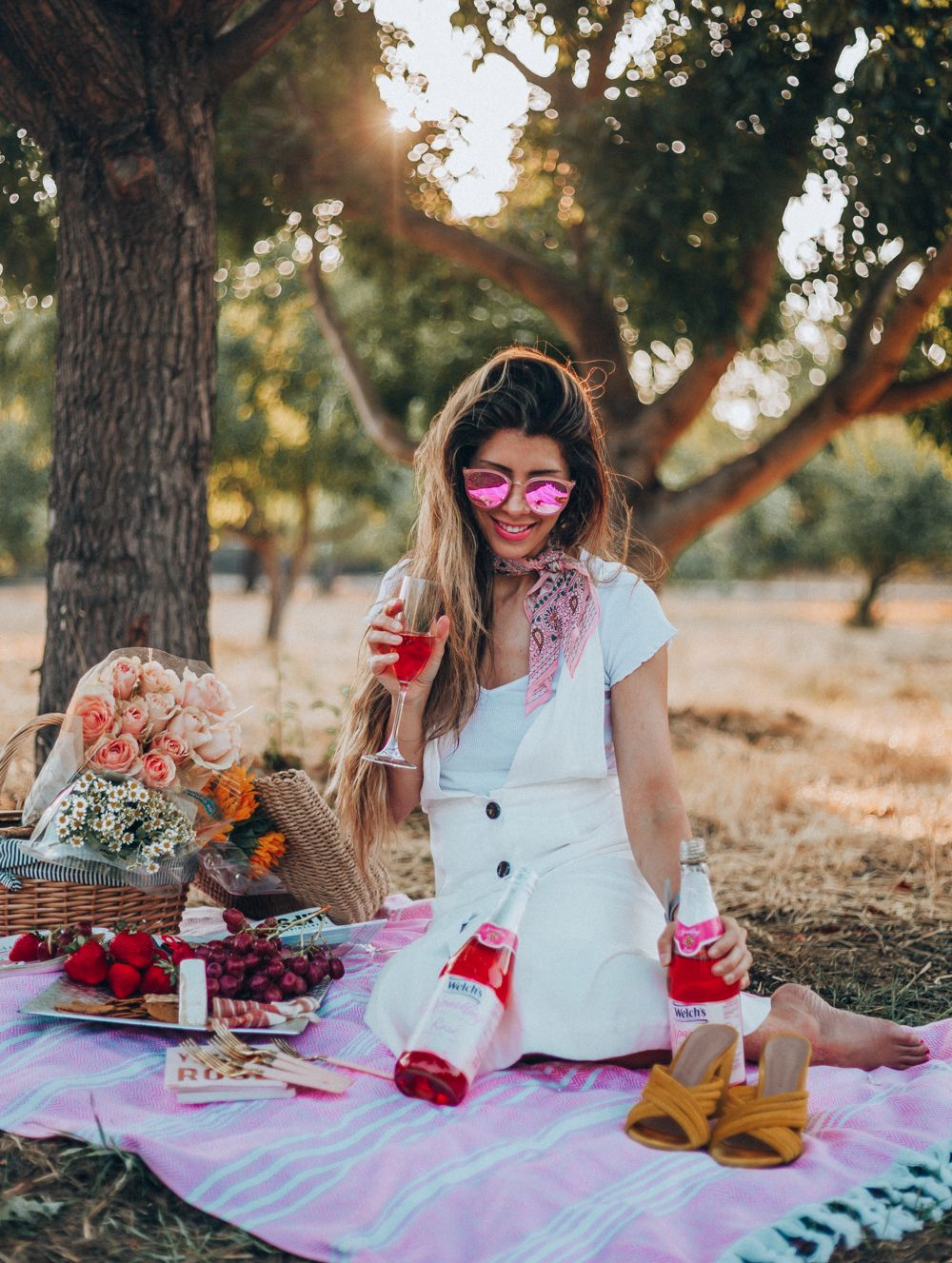 The Perfect Summer Picnic The Girl In The Yellow Dress White Dress Summer Yellow Dress Summer Dresses [ 1327 x 1000 Pixel ]