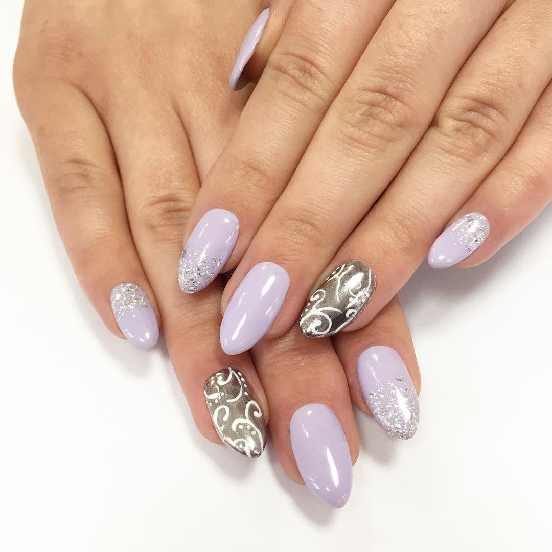 Pylek Chrome Effect Silver Manicure Hybrydowy Neonail Nails Silver Beauty