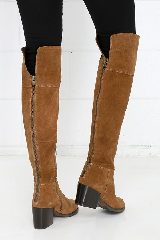 Steve Madden Orabela Chestnut Suede Leather Over the Knee Boots ...