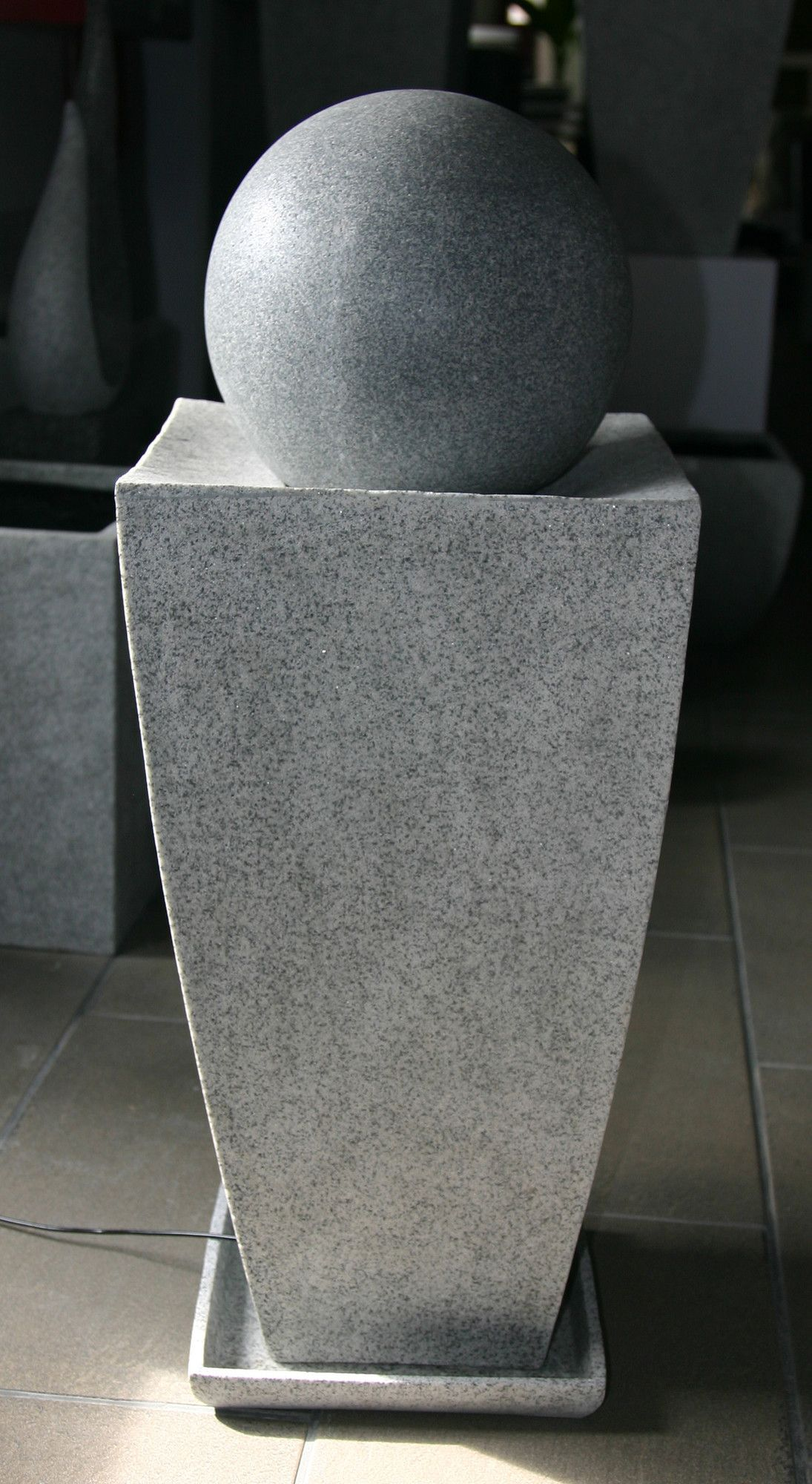 Natural Stone Square Planter Fountain Square Planters Fountains Outdoor Stone Planters