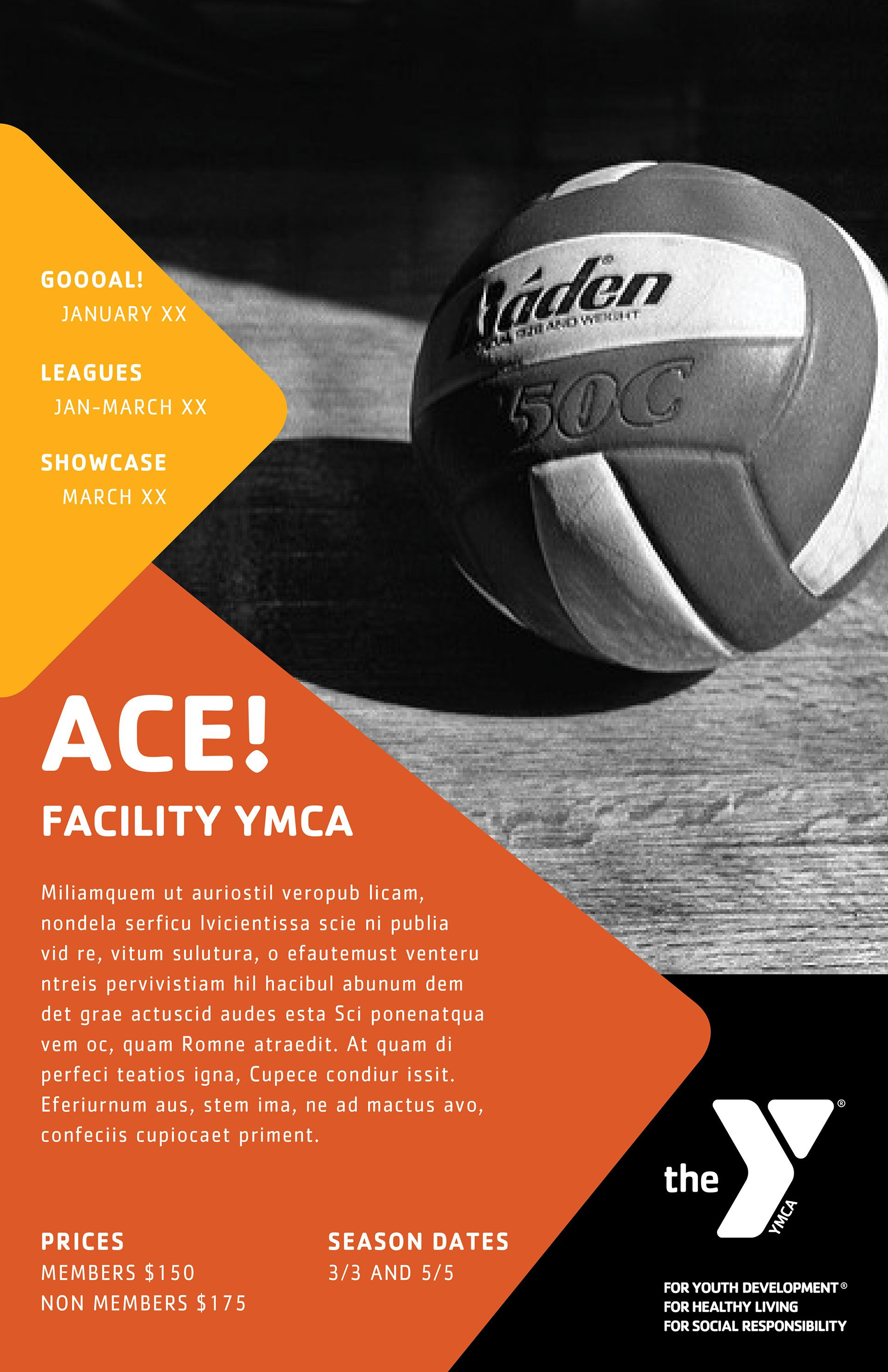 Layout Concept Ymcas Offer A Wide Range Of Programs Volleyball Ymca Healthyliving Fitnessfun Healthandwellness Ymca Marketing Poster Youth Programs