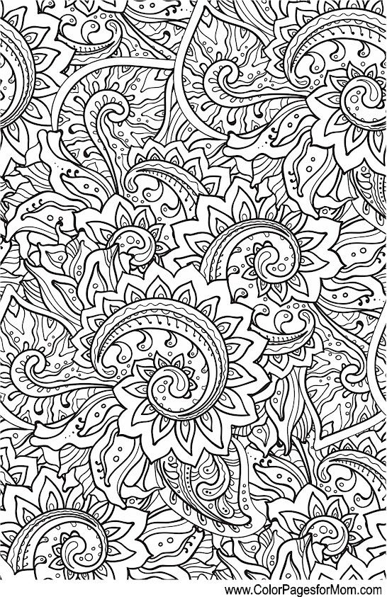 Pin On Paisley Coloring Pages For Adults