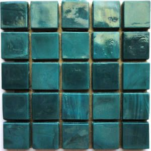 1 2 Inch Dark Teal Opaque Glass Mosaic Tiles Teal Glass Mosaic Tiles Emerald Green Glass Tiles Caribbean Blue G Blue Glass Tile Teal Tile Green Mosaic Tiles
