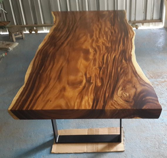 Live Edge Dining Table Acacia Wood Live Edge Reclaimed Solid Slab Rare. Live Edge Dining Table Acacia Wood Live Edge Reclaimed Solid Slab