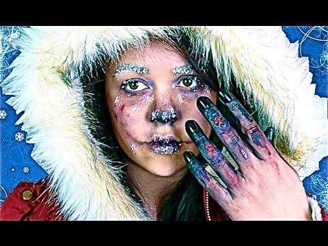 frostbitten makeup tutorial  youtube  amazing halloween