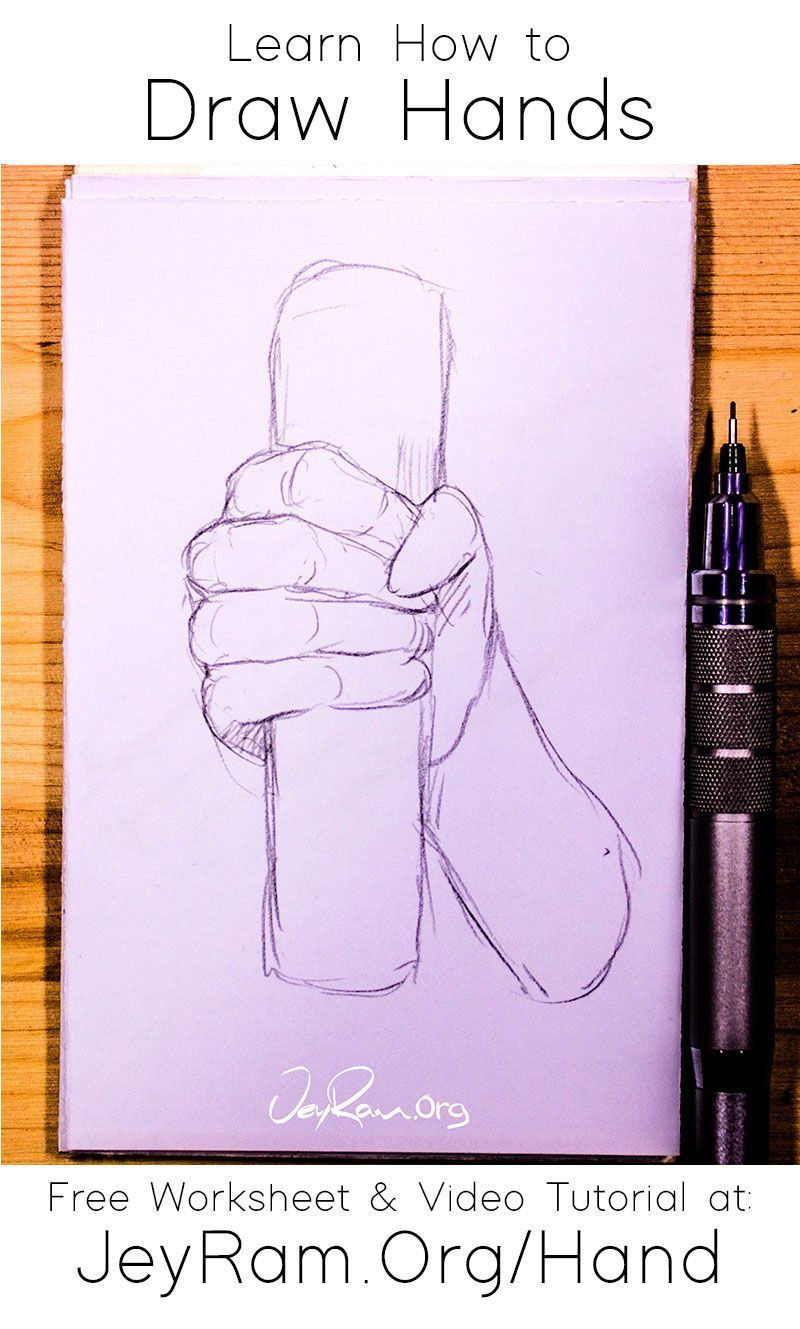 Learn How To Draw Hands Step By Step Tutorial In 2020 How To Draw Hands Learn To Draw Free Hand Drawing