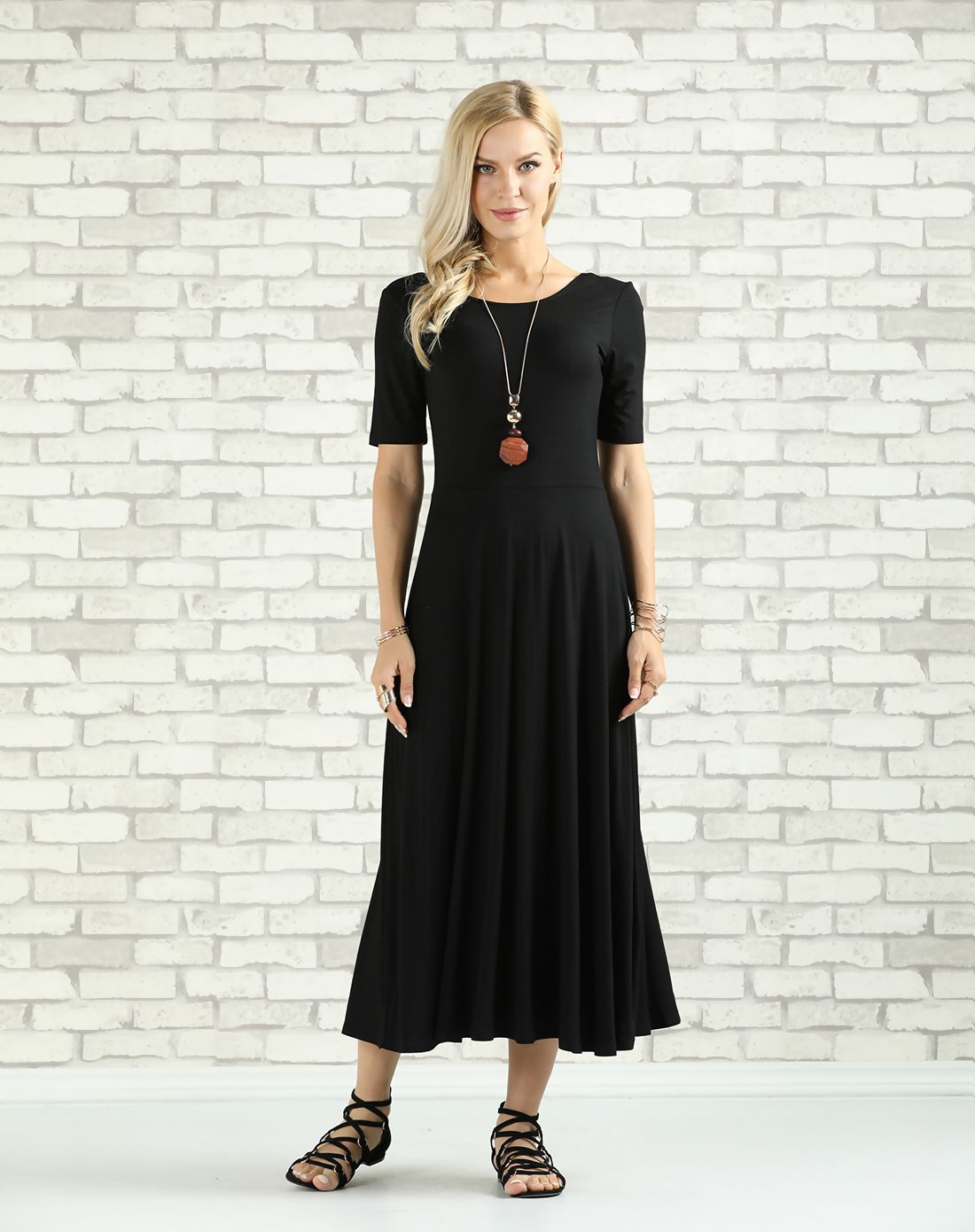 Adorewe vipme casual dressesdesigner suzanne betro black scoop