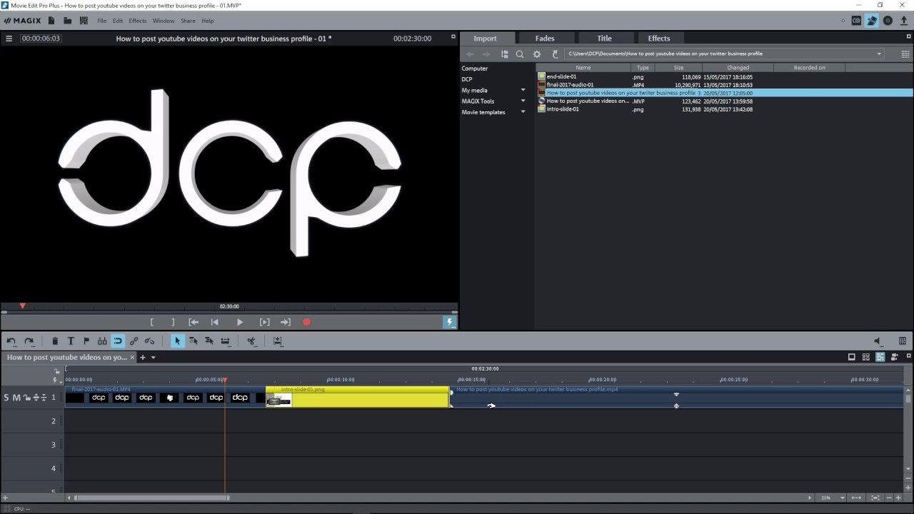 Magix movie edit pro plus tutorial | MAGIX Movie Edit Pro 2019 Plus