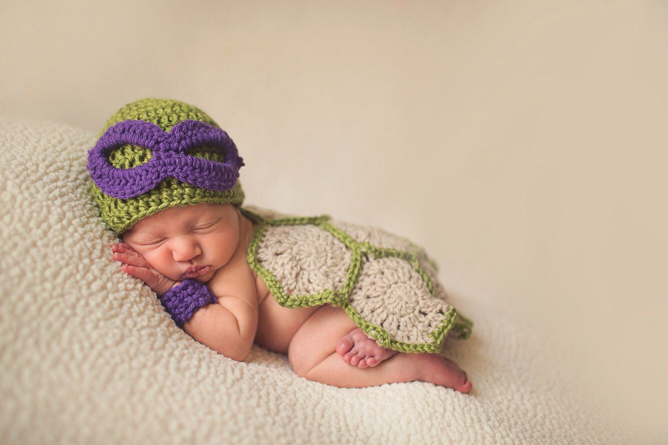 Super Cute Donatello Baby Ninja Turtle Costume for photo prop ...